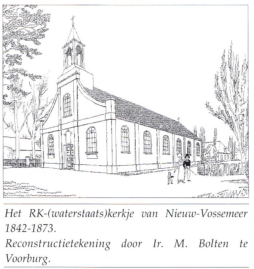 Kerkgebouw Nieuw Vossemeer 1842