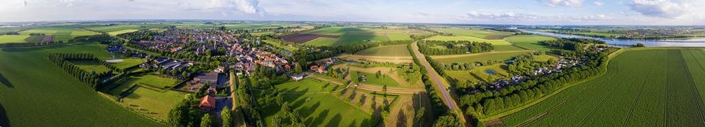 Nieuw Vossemeer lucht foto foxlake niek