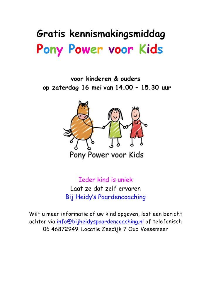 kennismaking pony power
