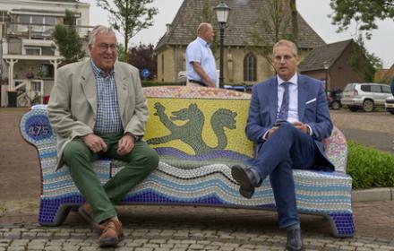 Onthulling Bulletje en Boonestaak Bank Nieuw-Vossemeer