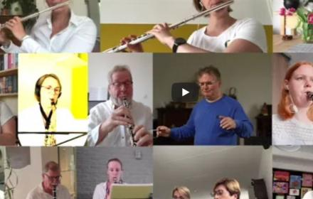 In deze lastige tijd hebben de Steenbergse muziekverenigingen de handen ineen geslagen.