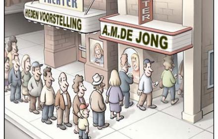 Toneel, AM de Jong.