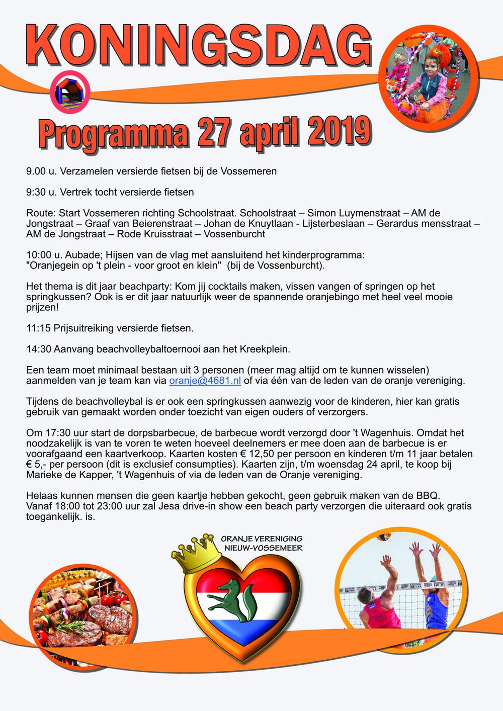 koningsdag 2019 nieuw vossemeer programma